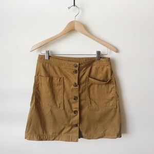 Old Navy brown button mini skirt